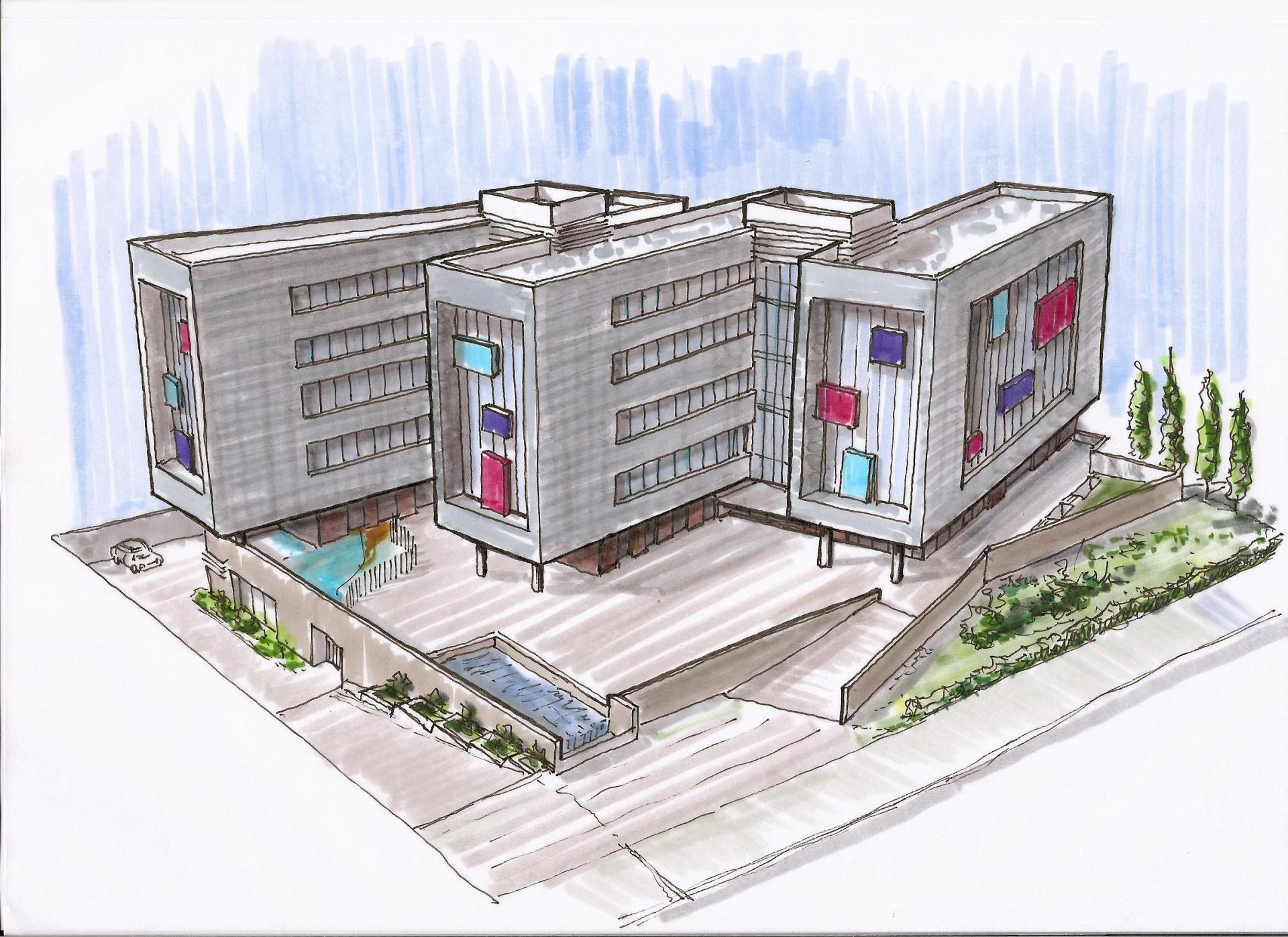 edificio incubadora de empresas scv arquitectura